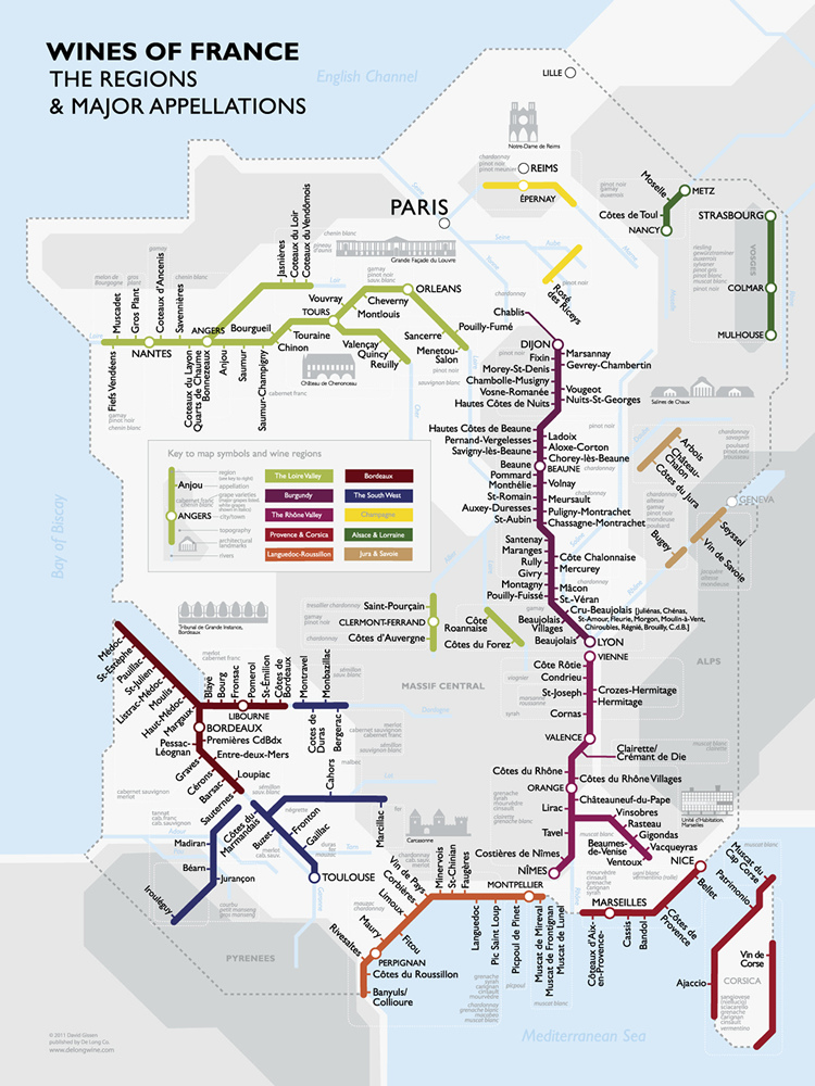 Винная карта Франции